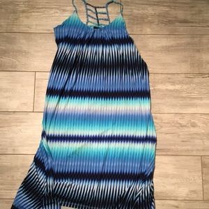Cynthia Rowley Hi Lo Maxi Dress Blue Size Large